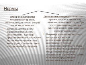 земельный кодекс императивные и диспозитивные нормы