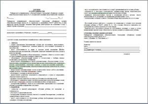 Договор о совместном сотрудничестве образец бланк