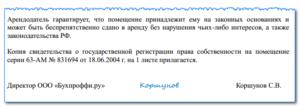 Гарантийное письмо в БТИ