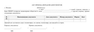 Акт сдачи документов в архив