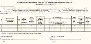 Акт утилизации образец бланк