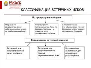 Встречный иск в гражданском процессе ГПК РФ