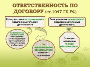 Договор о совместной деятельности ГК РФ