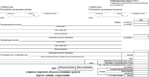 Форма акт приемки передачи нежилого здания перечень оборудования