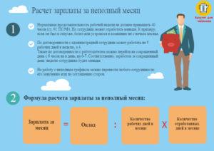 Расчет зарплаты за неполный месяц