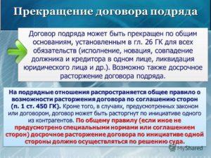 Расторжение договора подряда по инициативе заказчика