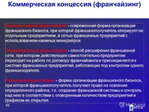 Договор коммерческой концессии франчайзинг образец бланк