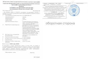 Выписка из ЕГРП Росреестр образец бланк