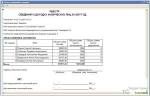 Справка о доходах физического лица образец бланк