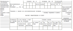 Выписка из лицевого счета квартиросъемщика образец бланк