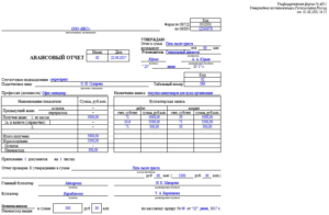 Авансовый отчет по командировке образец бланк