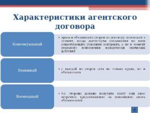 Существенные условия агентского договора