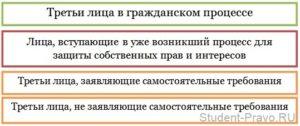 Права третьих лиц в гражданском процессе
