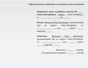 Претензия по расписке образец бланк