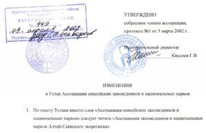 Лист изменений в Устав ООО образец бланк