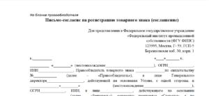 Письменное согласие образец бланк