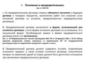 Предварительное соглашение о заключении договора в будущем образец бланк